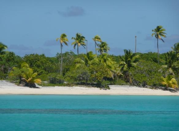 Mouillage sur la bordure Sud-Est de l'atoll de Tahanea, seul abri dans le cas de fort Ma'aramu.