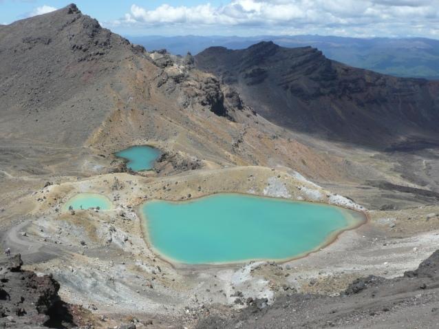 Emerald lakes.