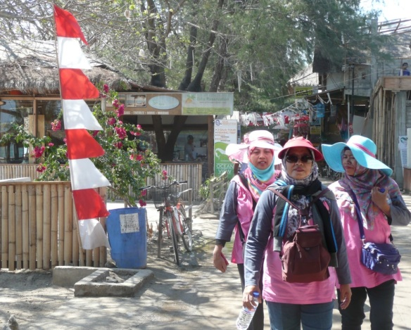 Touristes Javanais à Gili T. …