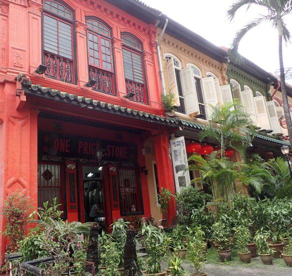 Singapour – Emerald Hill. La rue constitue une enclave de maisons traditionnelles chinoises au bord d'Orchard road.