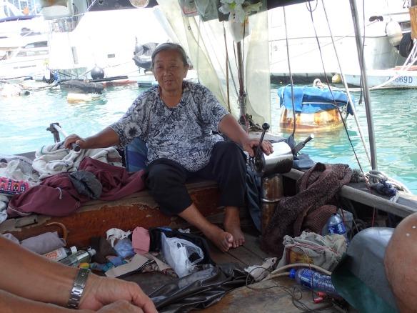 Hong Kong – A bord d'un sampan à Aberdeen